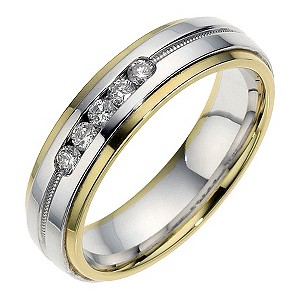18ct Gold Sterling Silver And Diamond Ring. 6m.
