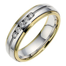 18ct Gold Sterling Silver And Diamond Ring. 6m. - Product number 9102116