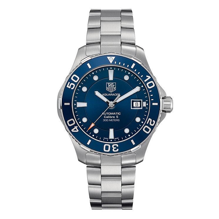 TAG Heuer Aquaracer men's blue dial bracelet watch - Product number 9102981