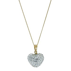 Eternal Crystal 9ct Yellow Gold Heart Necklace - Product number 9103457