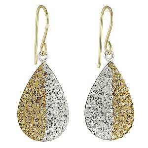 Eternal Crystal Sterling Silver & 9ct Yellow Gold Earrings - Product number 9103473