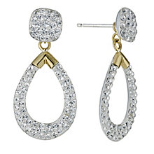 Sterling Silver & 9ct Yellow Gold Earrings - Product number 9103546