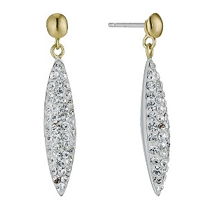 Sterling Silver & 9ct Yellow Gold Earrings - Product number 9103554