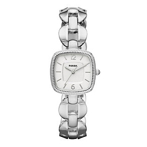 Fossil Ladies' Square Dial Silver Bracelet Watch - Small - Product number 9105271