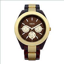 Oasis Ladies' Tortoise Shell Effect Bracelet Watch - Product number 9110992
