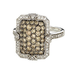 Le Vian 14ct white gold 1.43 carat diamond cluster ring - Product number 9111794