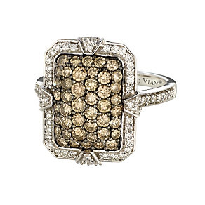 Le Vian 14ct Vanilla Gold 1.43 carat diamond cluster ring - Product number 9111794