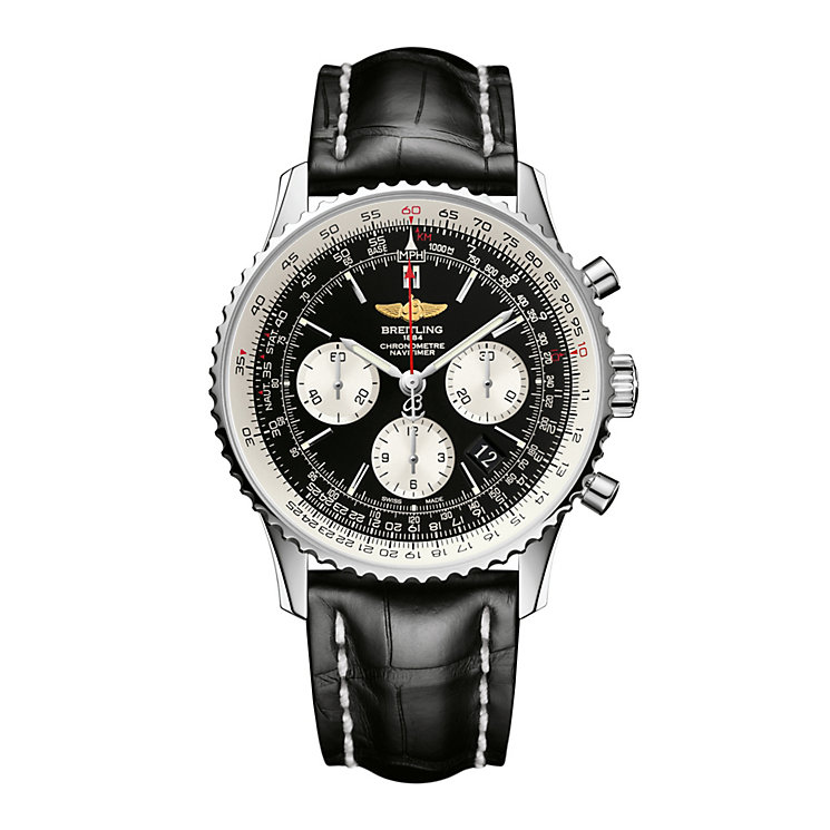 Breitling Navitimer 01 43mm Men's Black Strap Watch - Product number 9112847