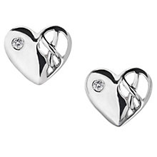 Hot Diamonds Sterling Silver & Diamond Heart Earrings - Product number 9113886