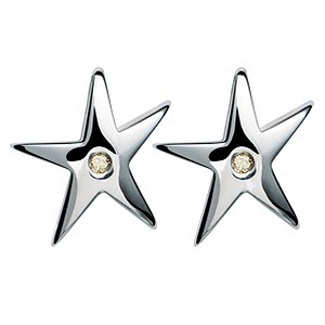 Hot Diamonds Sterling Silver Star Stud Earrings - Product number 9113908