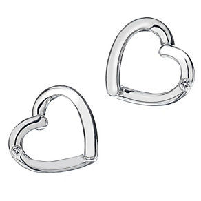 Hot Diamonds Sterling Silver Just Love Earrings - Product number 9113924