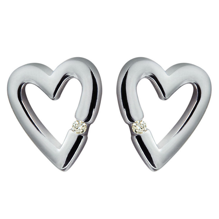 Hot Diamonds Sterling Silver Heart Stud Earrings - Product number 9113932