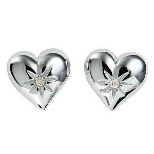 Hot Diamonds Sterling Silver Giselle Heart Earrings - Product number 9113940