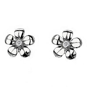 Hot Diamonds Sterling Silver Flower Earrings - Product number 9113983