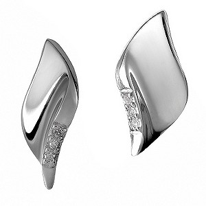Hot Diamonds Sterling Silver Leaf Earrings - Product number 9113991