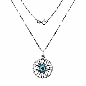 Hot Diamonds Silver Diamond & Aqua Sundial Pendant - Product number 9114084