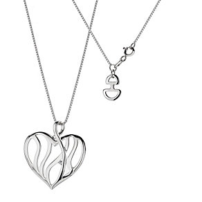 Hot Diamonds Sterling Silver Enlaced Heart Pendant - Product number 9114149