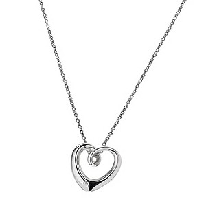 Hot Diamonds Sterling Silver Heart Necklace