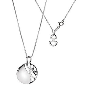 Hot Diamonds Sterling Silver Eclipse Disk Pendant - Product number 9114181