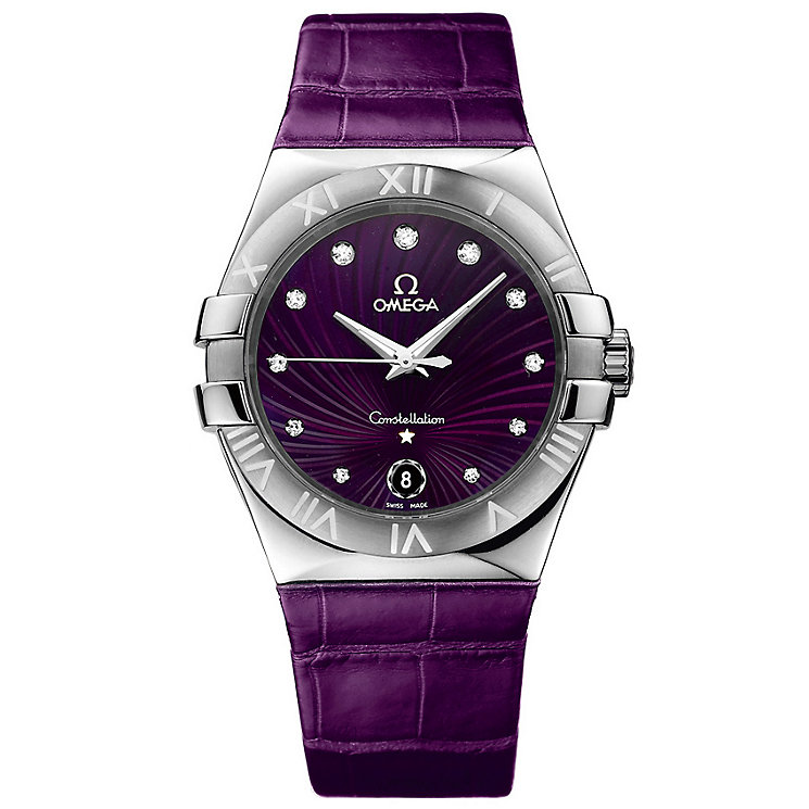 Omega Constellation Quartz ladies' leather strap watch - Product number 9117997