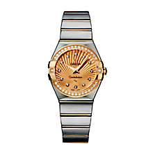 Omega Constellation Quartz ladies' two colour bracelet watch - Product number 9118039