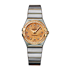 Omega Constellation 27mm ladies' two colour bracelet watch - Product number 9118039