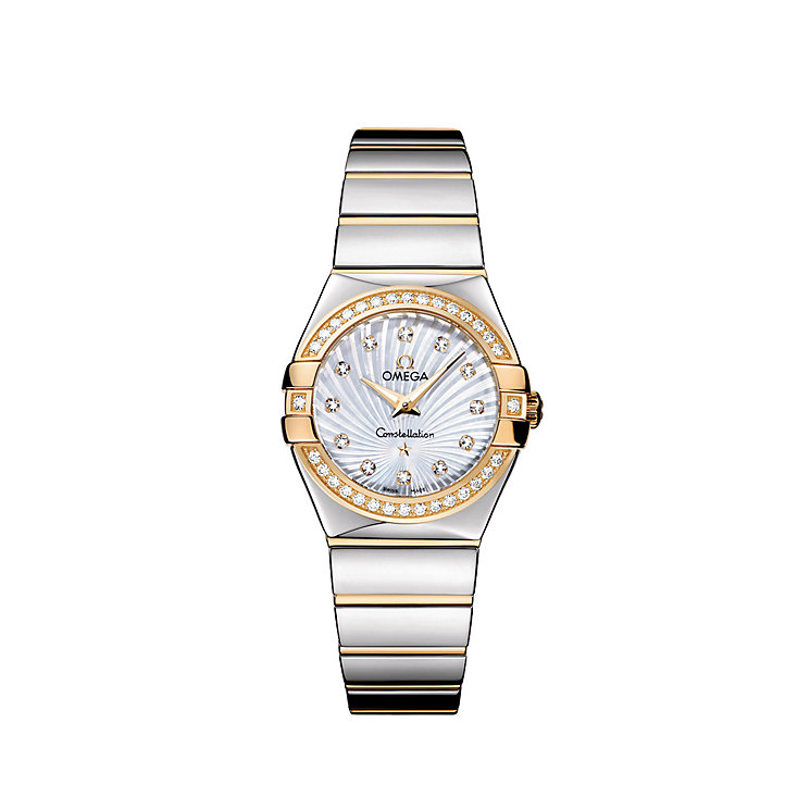 Omega Constellation Quartz ladies' two tone bracelet watch - Product number 9118128