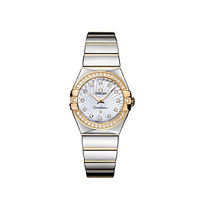 Omega Constellation ladies' diamond two tone bracelet watch - Product number 9118128