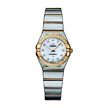Omega Constellation Quartz ladies' two colour bracelet watch - Product number 9118187