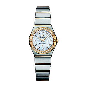 Omega Constellation 24mm ladies' two colour bracelet watch - Product number 9118187