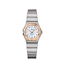 Omega Constellation Quartz ladies' diamond bracelet watch - Product number 9118209
