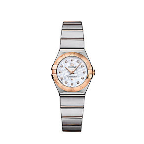 Omega Constellation ladies' diamond two tone bracelet watch - Product number 9118209