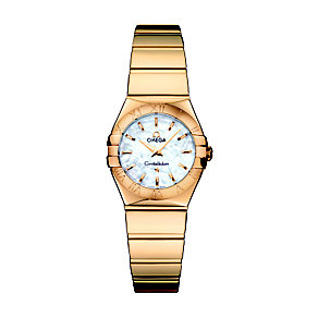 Omega Constellation 24mm ladies' 18ct gold bracelet watch - Product number 9118241