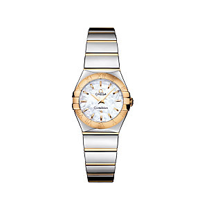Omega Constellation ladies' two colour bracelet watch - Product number 9118276