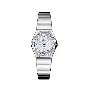 Omega Constellation ladies' diamond steel bracelet watch - Product number 9118306