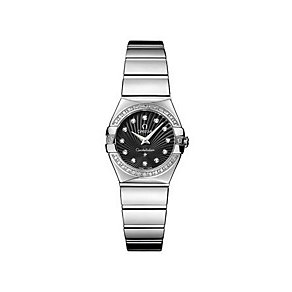 Omega Constellation ladies' diamond steel bracelet watch - Product number 9118314