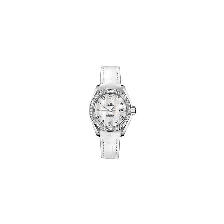 Omega Seamaster Aqua Terra 150M ladies' white strap watch - Product number 9118551