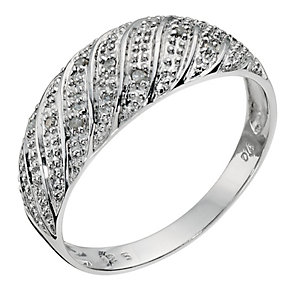 Silver Diamond Wave Ring - Product number 9123148