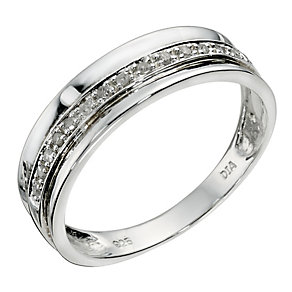 Silver Diamond Eternity Ring - Product number 9123261