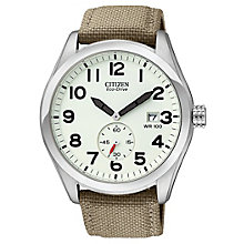 Citizen Men's Eco Drive Khaki Military Strap Watch - Product number 9123423