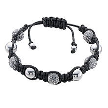 Eternal Men's Stainless Steel Grey Crystal Bracelet - Product number 9125051