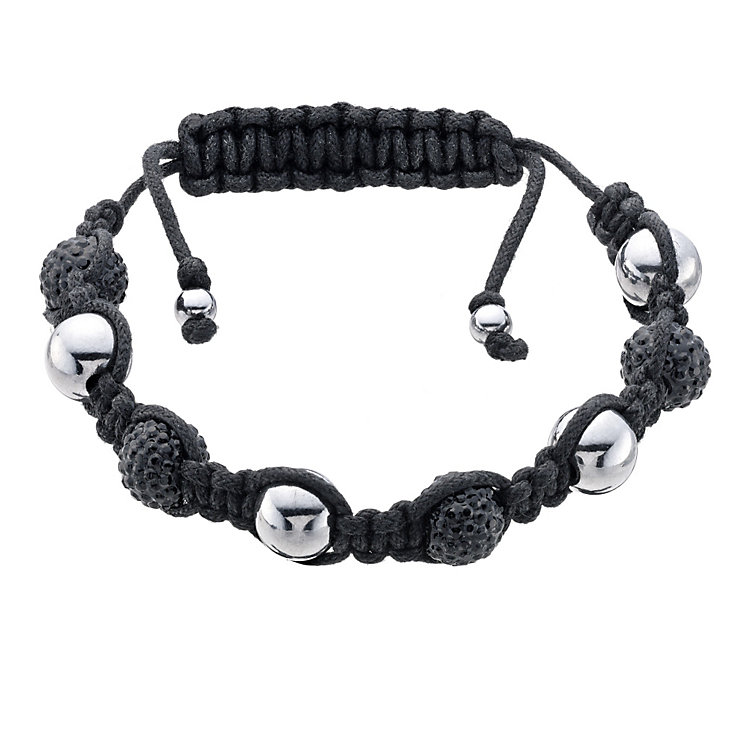 Eternal Men's Stainless Steel Black Crystal Bracelet - Product number 9125086