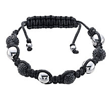 Eternal Men's Stainless Steel Black Crystal Bracelet - Product number 9125086