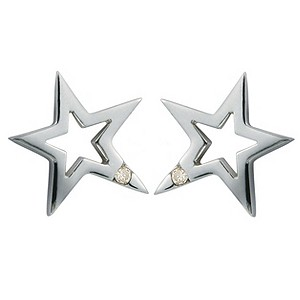 Hot Diamonds sterling silver open star earrings - Product number 9125949