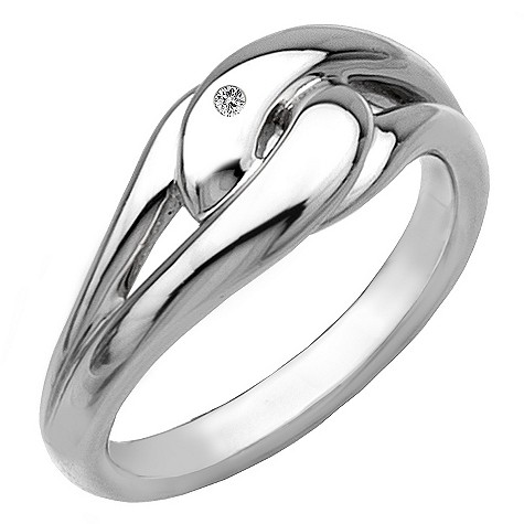 Hot Diamonds silver infinity ring Size L