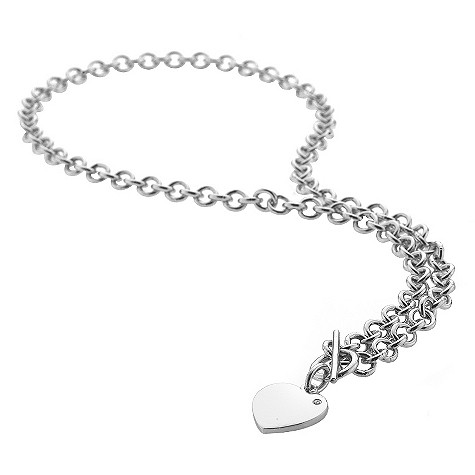 Hot Diamonds T-Bar heart necklace