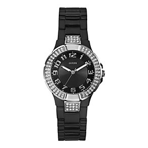 Guess Ladies' Mini Prism Black Bracelet Watch - Product number 9126449