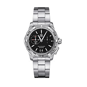 TAG Heuer Aquaracer men's black alarm watch - Product number 9126597