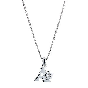 Children's Sterling Silver Initial A Pendant - Product number 9128204