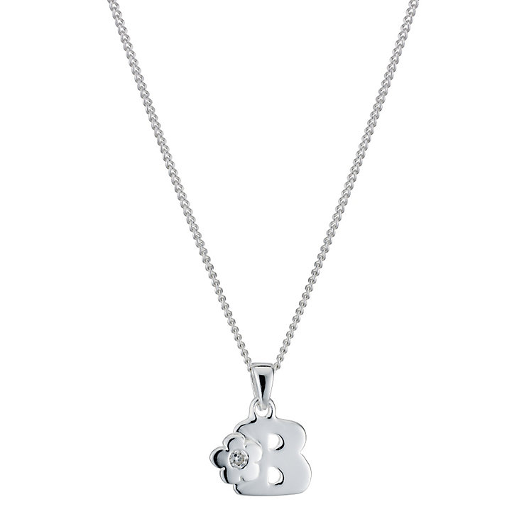 Children's Sterling Silver Initial B Pendant - Product number 9128212